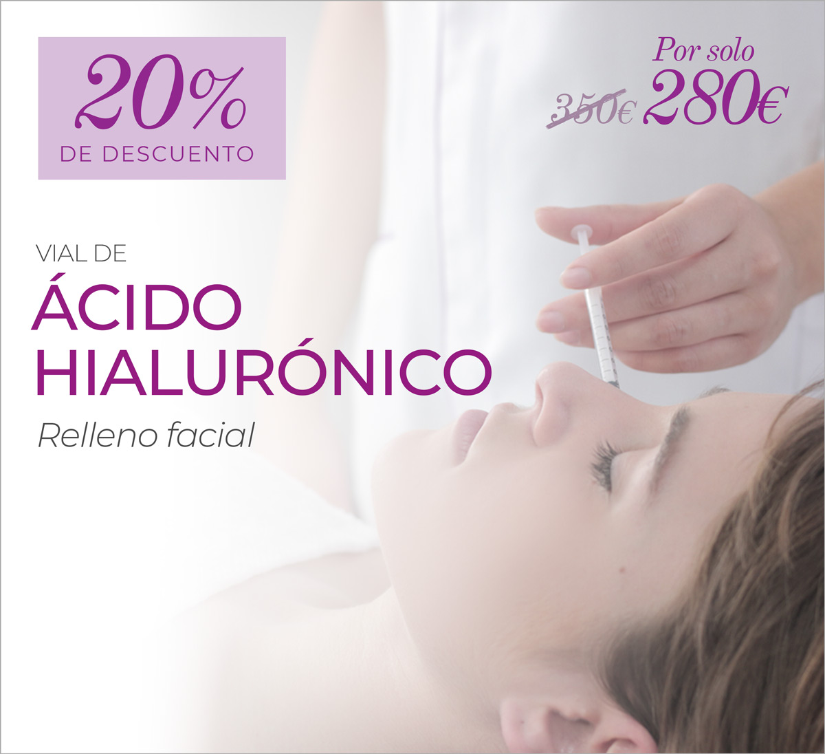 Vial De Relleno Facial Con ácido Hialurónico